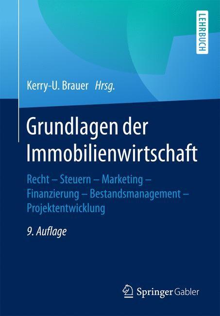 Grundlagen der Immobilienwirtschaft | Brauer | 9. Auflage, 2017 | Buch (Cover)