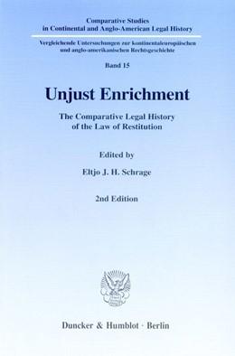 Abbildung von Schrage | Unjust Enrichment | 1999 | The Comparative Legal History ... | 15