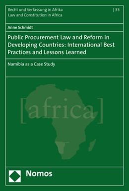 Abbildung von Schmidt   Public Procurement Law and Reform in Developing Countries: International Best Practices and Lessons Learned   2017   Namibia as a Case Study   33