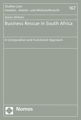 Abbildung von Wilhelm | Business Rescue in South Africa | 2017 | A Comparative and Functional A... | 167