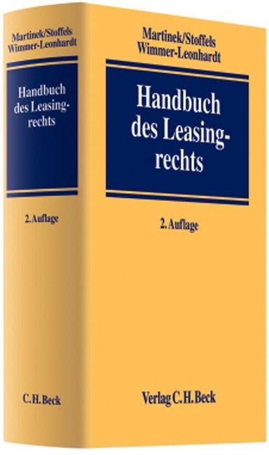 Handbuch des Leasingrechts | Martinek / Stoffels / Wimmer-Leonhardt | 2. Auflage, 2008 | Buch (Cover)