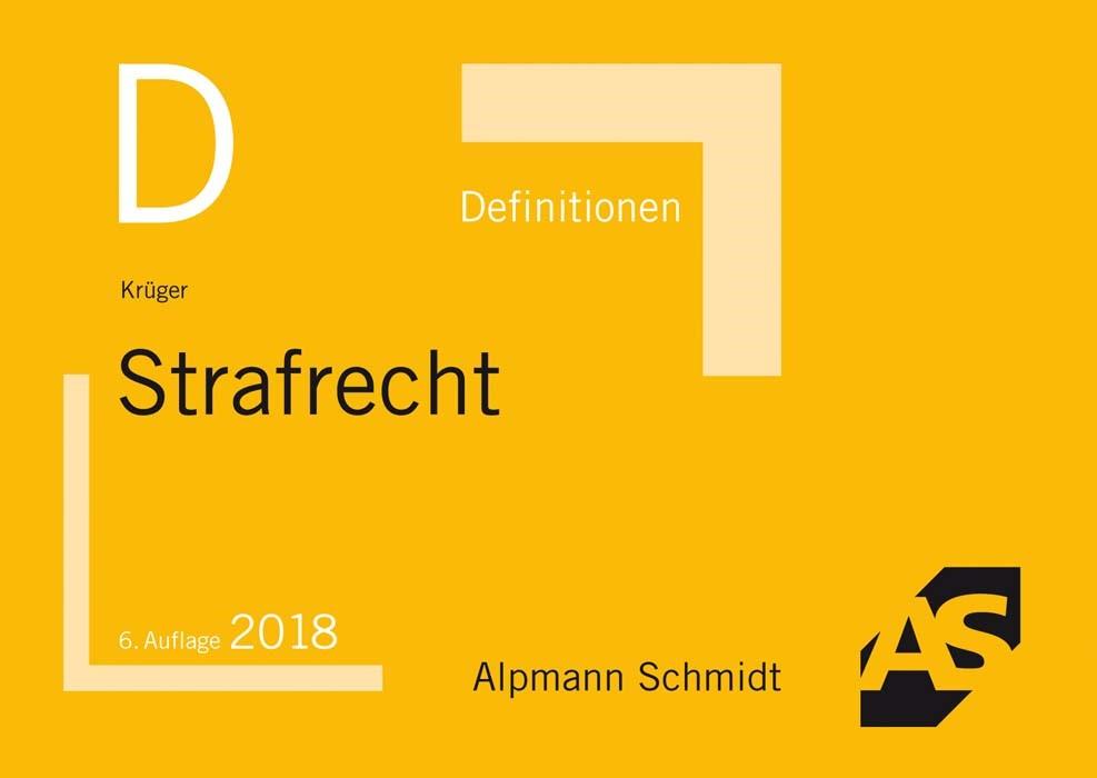 Definitionen Strafrecht | Krüger | 6., neu bearbeitete Auflage, 2017 | Buch (Cover)