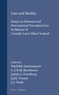 Abbildung von Sumampouw / Barnhoorn / Freedberg / Tromm / Wade | Law and Reality | 1992