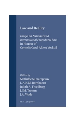 Abbildung von Sumampouw / Barnhoorn / Freedberg / Tromm / Wade | Law and Reality | 1992 | Essays on National and Interna...