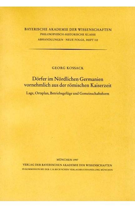 Cover: , Dörfer im Nördlichen Germanien vornehmlich aus der römischen Kaiserzeit