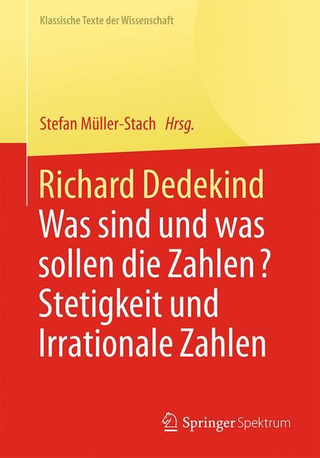 Richard Dedekind | Müller-Stach, 2017 | Buch (Cover)