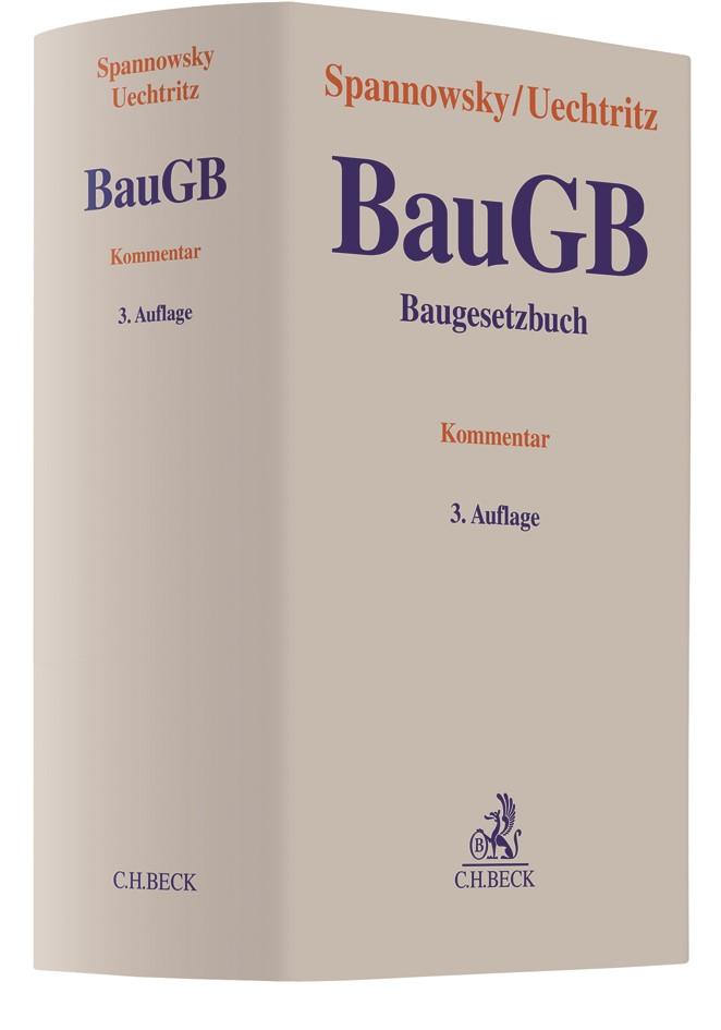 Baugesetzbuch: BauGB | Spannowsky / Uechtritz | 3. Auflage, 2018 | Buch (Cover)