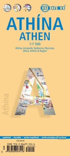 Athens ( Atthína / Athens ) 1 : 7500 | 14. Auflage, 2017 (Cover)