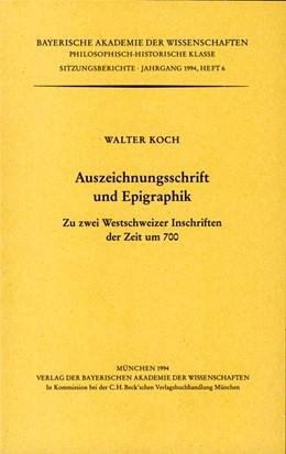 Abbildung von Koch, Walter | Auszeichnungsschrift und Epigraphik | 1. Auflage | 1994 | Heft 1994/6 | beck-shop.de
