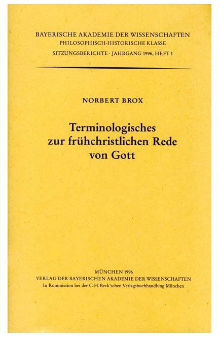 Cover: , Terminologisches zur frühchristlichen Rede von Gott
