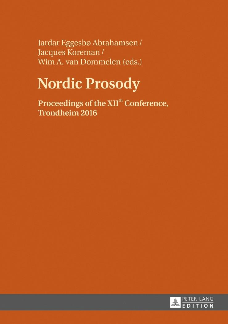 Nordic Prosody | Abrahamsen / Koreman / Dommelen, 2017 | Buch (Cover)
