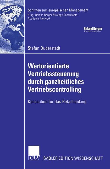 Wertorientierte Vertriebssteuerung durch ganzheitliches Vertriebscontrolling | Duderstadt, 2006 | Buch (Cover)