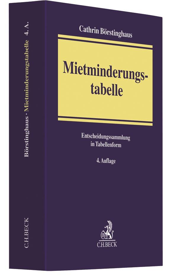 Mietminderungstabelle | Börstinghaus | 4. Auflage, 2017 | Buch (Cover)