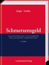 Schmerzensgeld | Jaeger / Luckey | 9. Auflage, 2017 | Buch (Cover)