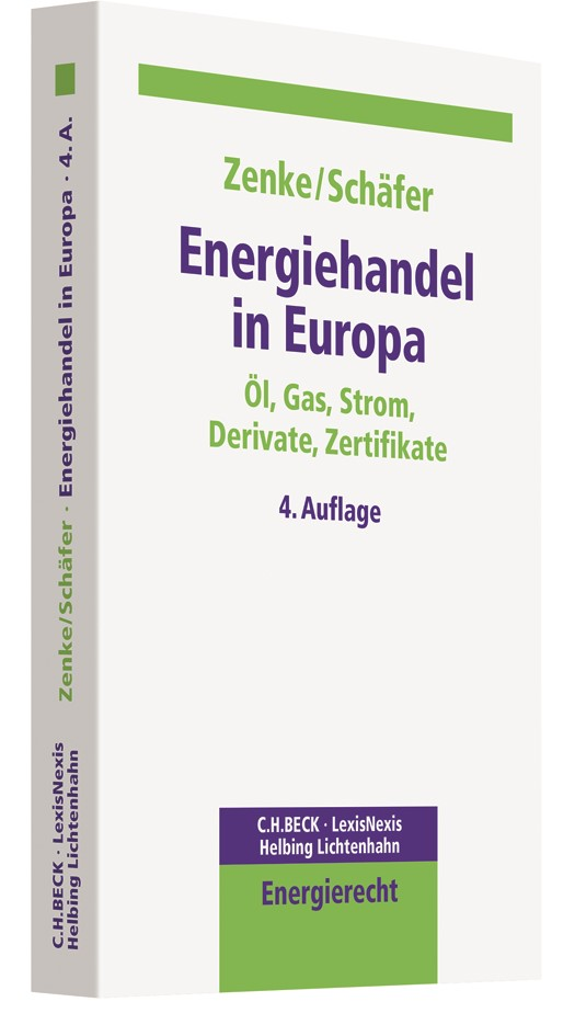 Energiehandel in Europa | Zenke / Schäfer | 4. Auflage, 2017 | Buch (Cover)