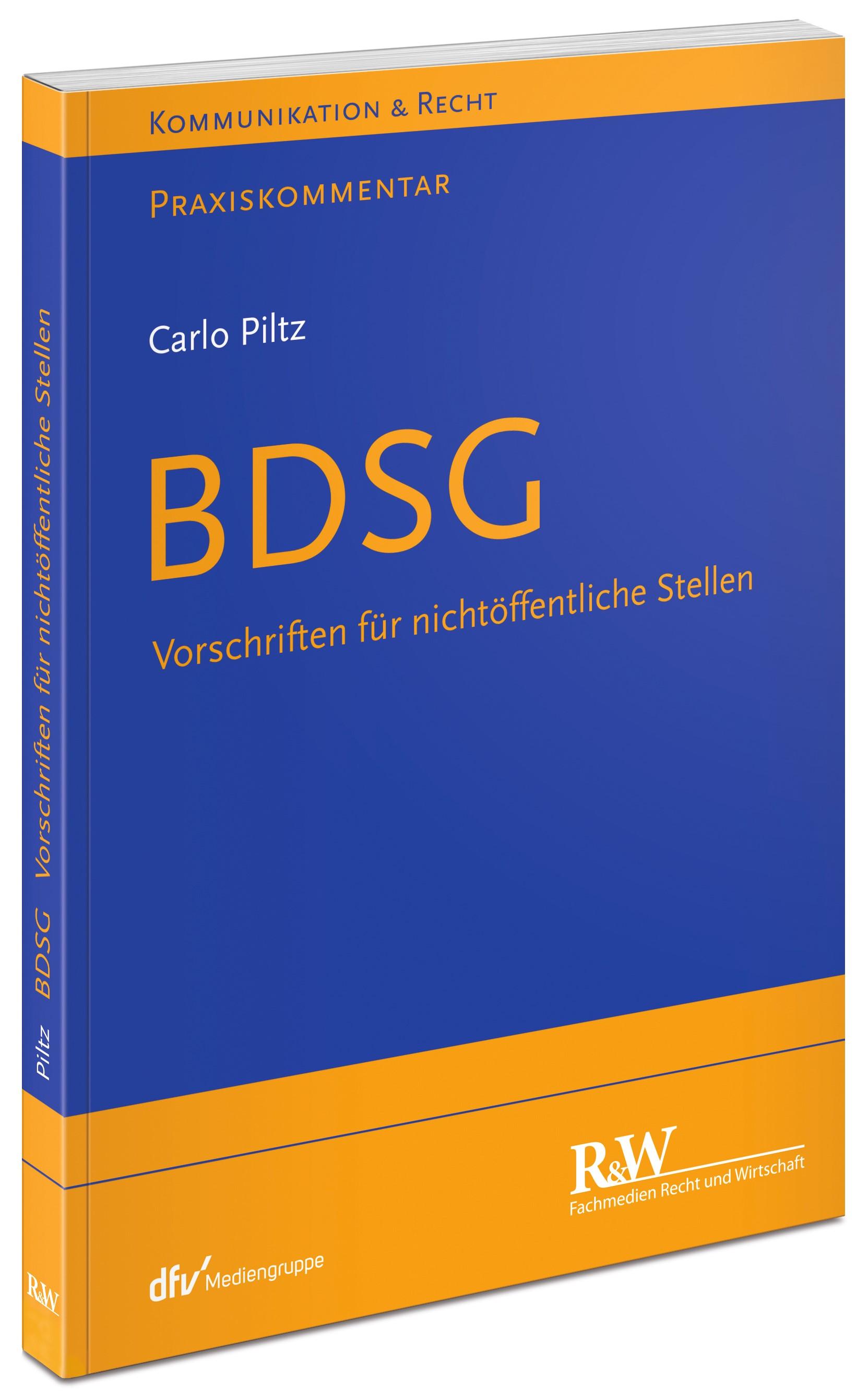 BDSG | Piltz, 2017 | Buch (Cover)