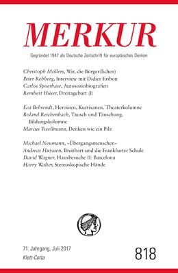 Abbildung von Demand   MERKUR Deutsche Zeitschrift für europäisches Denken 818, Heft 2017   1. Auflage   2017   beck-shop.de