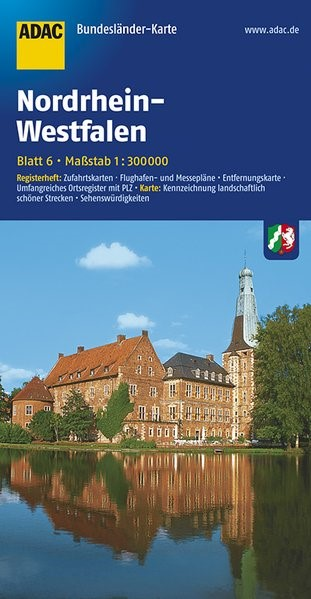 ADAC BundesländerKarte Deutschland 06. Nordrhein-Westfalen 1 : 300 000 | 4. Auflage, 2017 (Cover)