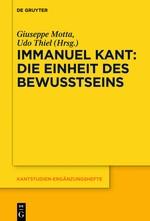 Immanuel Kant – Die Einheit des Bewusstseins   Motta / Thiel, 2017   Buch (Cover)