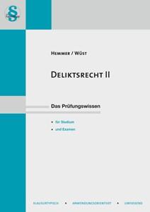 Abbildung von Hemmer / Wüst / D'Alquen | Deliktsrecht II | 10. Auflage | 2017