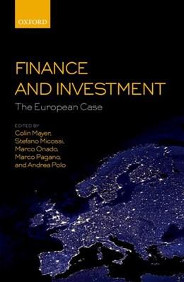 Abbildung von Mayer / Micossi / Onado / Pagano / Polo | Finance and Investment: The European Case | 2018