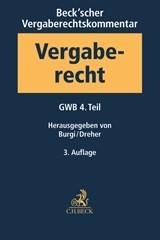 Beck'scher VOB- und Vergaberechtskommentar - Vierbändige Ausgabe, Band 1: Gesetz gegen Wettbewerbsbeschränkungen - GWB - 4. Teil | 3. Auflage, 2017 | Buch (Cover)