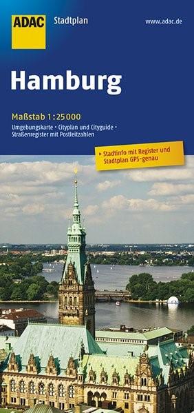 ADAC Stadtplan Hamburg 1 : 25 000 | 13. Auflage, 2017 (Cover)