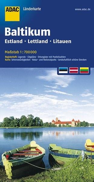 Abbildung von ADAC LänderKarte Baltikum, Estland, Lettland, Litauen 1:700 000   5. Auflage   2017