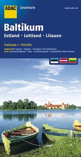 Abbildung von ADAC LänderKarte Baltikum, Estland, Lettland, Litauen 1:700 000 | 5. Auflage | 2017 | Register: Citypläne, Ortsregis...