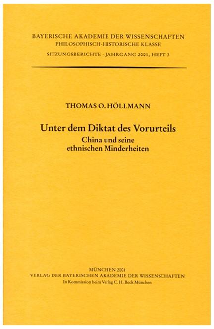 Cover: Thomas O. Höllmann, Unter dem Diktat des Vorurteils