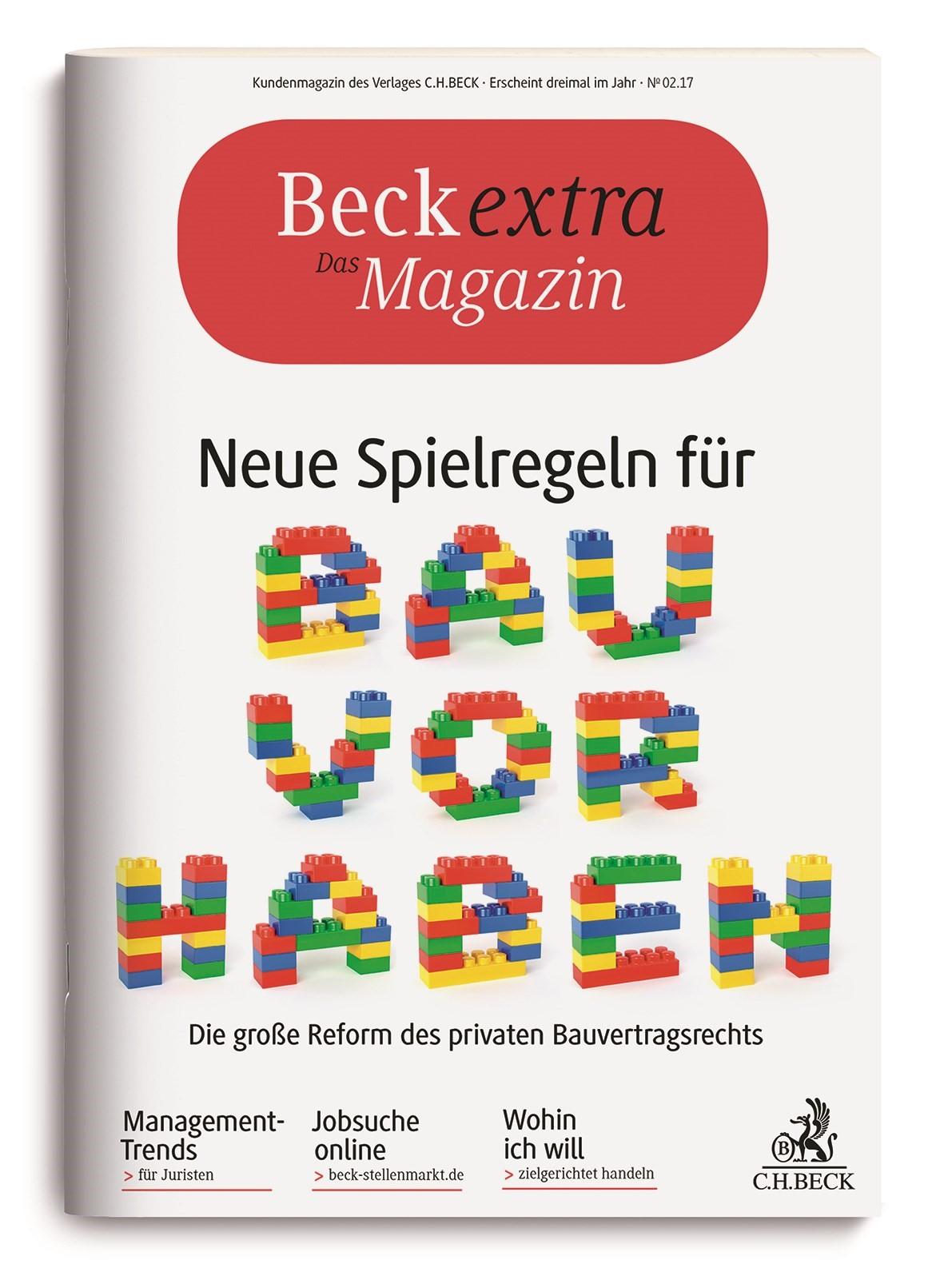 Beckextra Das Magazin • Heft 2/2017, 2017 (Cover)
