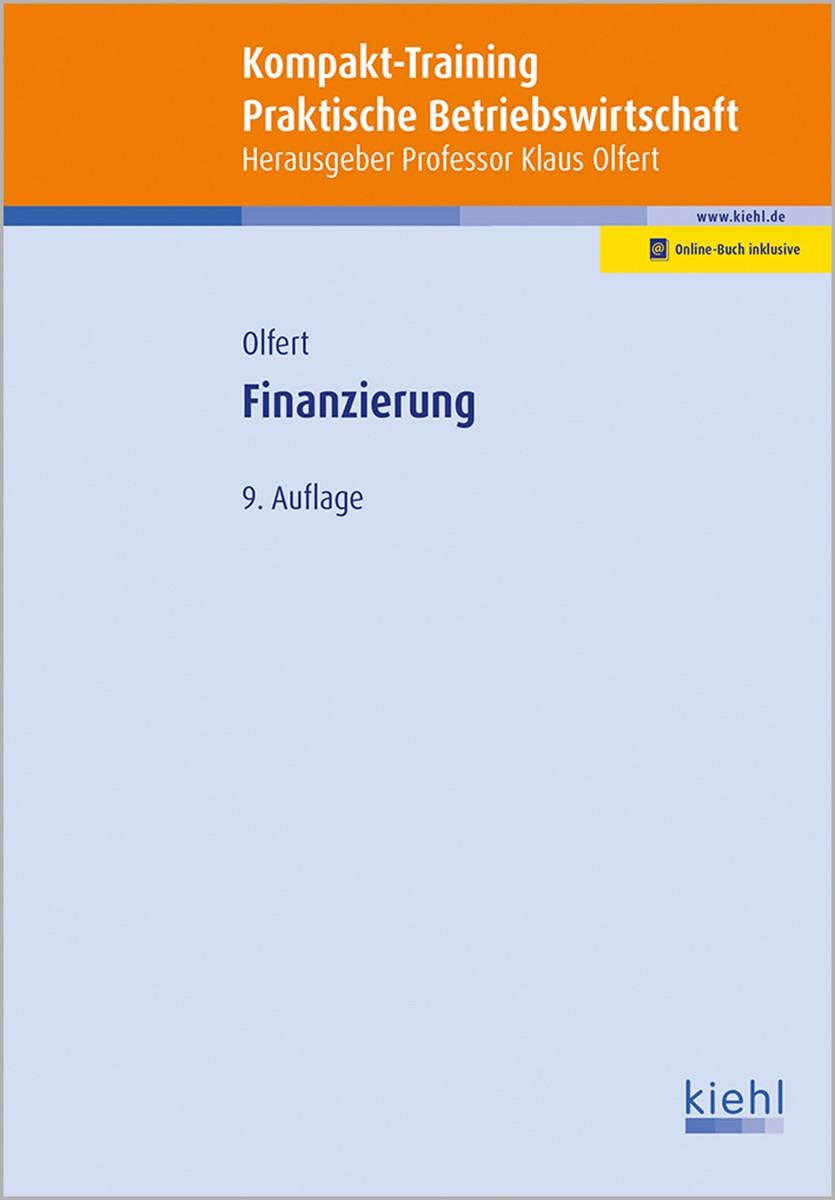 Kompakt-Training Finanzierung   Olfert   9., aktualisierte Auflage, 2017   Buch (Cover)