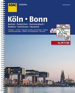 Abbildung von ADAC Stadtatlas Köln, Bonn, Aachen, Euskirchen, Gummersbach, Koblenz, Leverkusen 1:20000 | 11. Auflage, Laufzeit bis 2021 | 2017 | Insgesamt 254 Städte und Gemei...