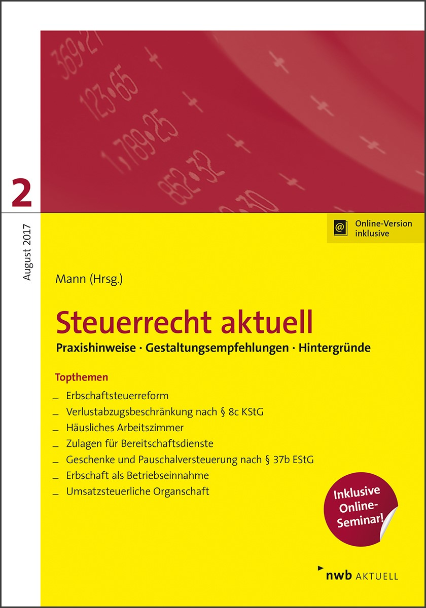 Steuerrecht aktuell 2/2017 | Hillmoth / Höne / L'Habitant, 2017 | Buch (Cover)
