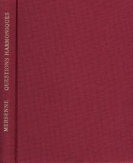 Abbildung von Mersenne   Questions harmoniques   Faks.-Neudruck der Ausgabe Paris 1634   1972   Dans lesquelles sont contenues...