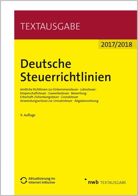 Deutsche Steuerrichtlinien | 9. Auflage, 2017 | Buch (Cover)