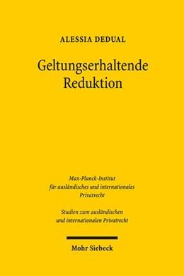 Abbildung von Dedual   Geltungserhaltende Reduktion   1. Auflage   2017   beck-shop.de
