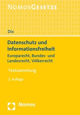 Datenschutz und Informationsfreiheit | Dix | 2. Auflage, 2018 | Buch (Cover)