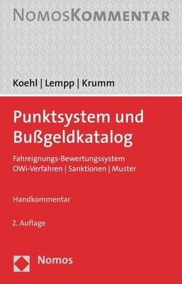 Punktsystem und Bußgeldkatalog | Koehl / Lempp / Krumm | 2. Auflage, 2018 | Buch (Cover)