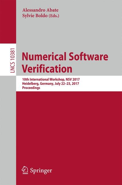 Numerical Software Verification   Abate / Boldo   1st ed. 2017, 2017   Buch (Cover)
