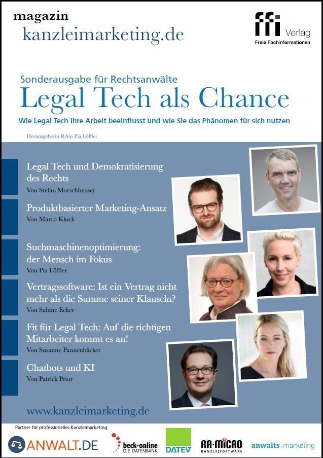 magazin kanzleimarketing.de • Sonderausgabe für Rechtsanwälte  »Legal Tech als Chance« (Cover)