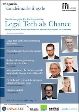 Abbildung von magazin kanzleimarketing.de • Sonderausgabe für Rechtsanwälte »Legal Tech als Chance«   1. Auflage   2017   beck-shop.de