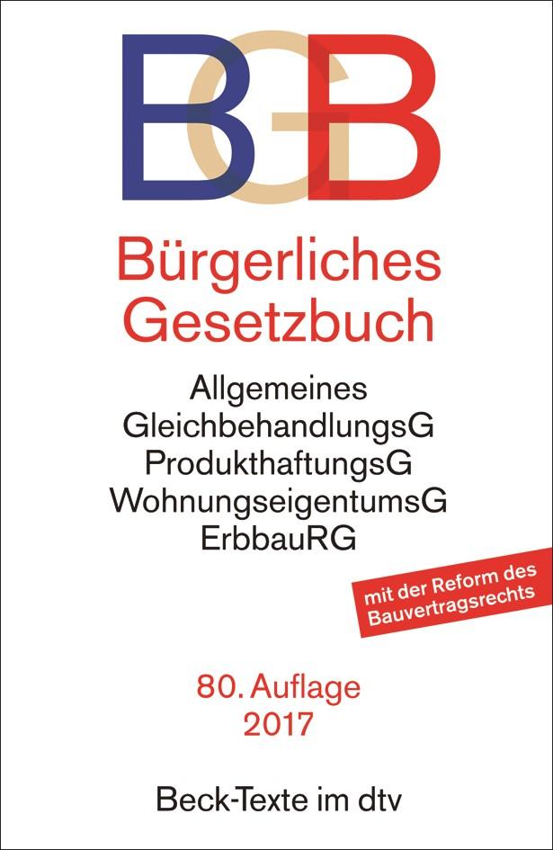 Bürgerliches Gesetzbuch: BGB | 80., überarbeitete Auflage, 2017 | Buch (Cover)