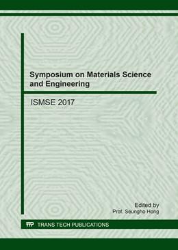 Abbildung von Hong | Symposium on Materials Science and Engineering | 2017 | ISMSE 2017 | Volume 744