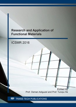Abbildung von Adiguzel / He | Research and Application of Functional Materials | 2017 | ICSMR 2016 | Volume 900