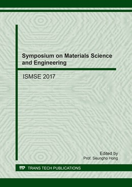 Abbildung von Hong | Symposium on Materials Science and Engineering | 2017 | ISMSE 2017 | Volume 744