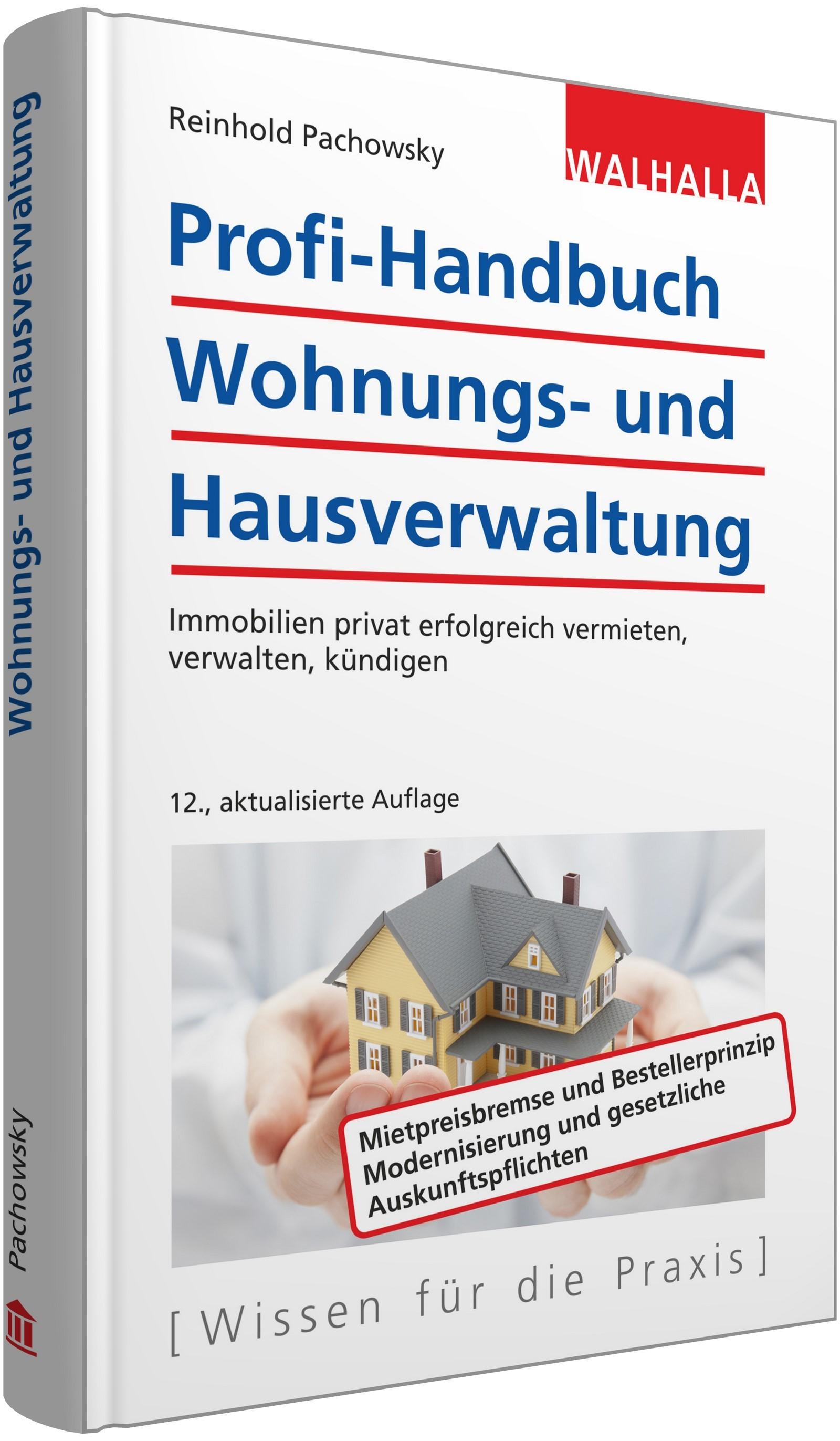 Abbildung von Pachowsky | Profi-Handbuch Wohnungs- und Hausverwaltung | 12., aktualisierte Auflage | 2019