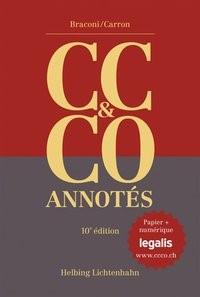 Code civil suisse et Code des obligations annotés: CC & CO annotés | Braconi / Carron | 10. Auflage, 2017 (Cover)