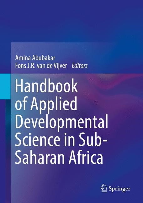 Handbook of Applied Developmental Science in Sub-Saharan Africa | Abubakar / van de Vijver | 1st ed. 2017, 2017 | Buch (Cover)