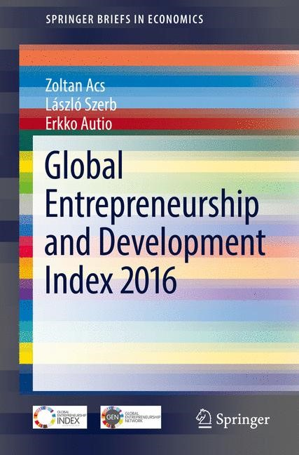 Abbildung von Acs / Szerb / Autio | Global Entrepreneurship and Development Index 2016 | 1st ed. 2017 | 2017